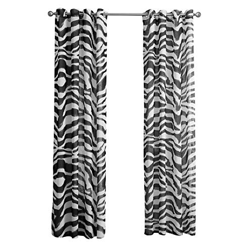 MMHJS European-Style Texture Printing Curtains Polyester Waterproof Perforated Blackout Vertical Curtains Living Room Bedroom Balcony Garden Blackout Curtains (2 Pieces)