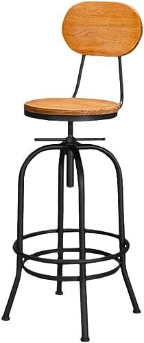 Huifang Corrective chair QFFL jiaozhengyi Barhocker, Eisen Kunst Lift Barhocker Industrial Wind Holz rotierende Barhocker Cafe Restaurant Hochstuhl