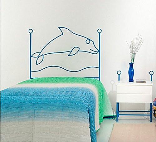 Dfürro ai-509.090 lfin Kopfteil aus Schmiedeeisen, 90cm  , blau