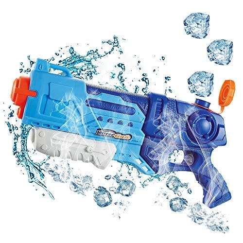 【2020最新版】水鉄砲 超強力飛距離 ウォーターガン 1100cc 大容量 飛距離10-12m こども 水遊び 夏祭り 水...