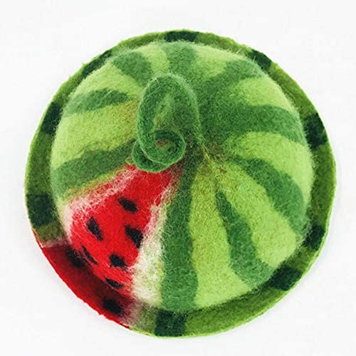 Thanksgiving Christmas Holiday Gift Needle Felted Hat Artist Fall Winter Wool Felt Hat Handmade Watermelon Cute Hat Cute Baby Photo prop