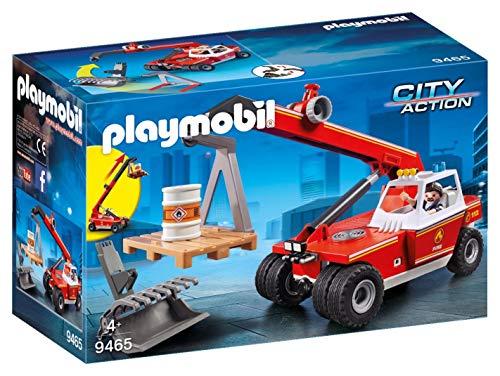 Playmobil - Pompier avec Véhicule et Bras Téléscopique - 9465