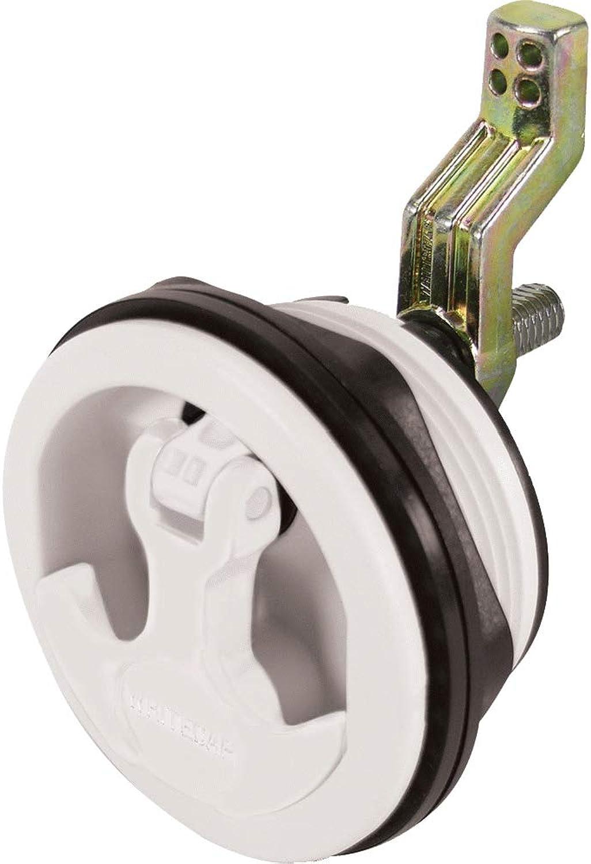 Whitecap Compression Handle SS White Nylon Non Locking  8230WC