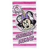 Cerdá - Toalla Playa Infantil Minnie Mouse Unicornio