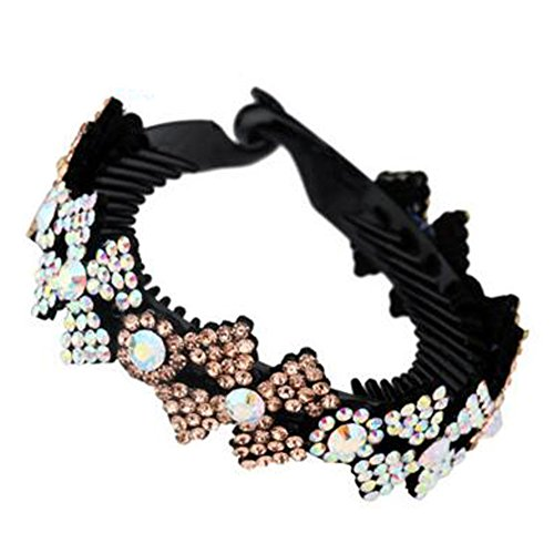 Mesdames Elegant Rhinestones Hair Bun Décor Ponytail Clip Hair Accessories, No.9