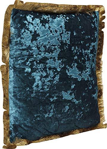 Kare Design Kissen Cannes, Petrol, 8x45x45cm, Blau, One Size