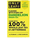 ONLYLEAF Dandelion Green Tea, Made with 100% Whole Leaf & Natural Dandelion Roots, 27 Pyramid Tea...