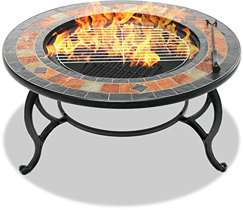 Centurion Supports Fireology LANIAKA Garden Heater/Fire Pit/Coffee Table/Barbecue/Ice Bucket - Slate Finish