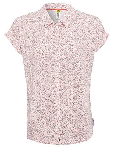ROADSIGN Australia Damen Bluse mit romantischem Allovermuster weiß   XL