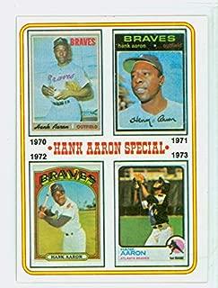 1974 Topps Baseball 6 Hank Aaron 1970-1973 Excellent to Mint