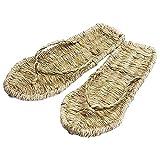 Corda Sandali di Paglia Scarpe - Tradizionale Canapa Fatta A Mano Antiscivolo da Spiaggia Infradito Zoccoli Accessori Pantofola Sneaker Calzature per Uomo Donna,45