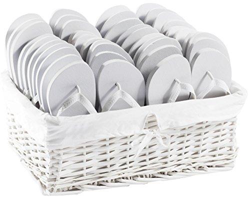 ZOHULA Weiß Originals Flip Flop Party Pack - 20 Paar Mx10 Lx10
