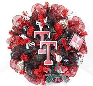 Texas Tech red Raiders Fan Deco Mesh Wreath