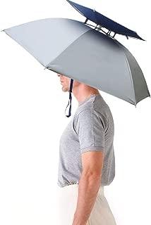 Hands Free Umbrella Hat - 31'' Diameter Windproof Elastic - Headwear for Fishing Gardening in Outdoor Recreation