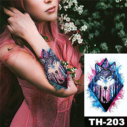 tzxdbh 5 Stks-Waterdichte Tattoo Sticker Rode Rose Kant Geometrische Patroon Romantische Water Transfer Lichaam Kunst Tatoo-In Tattoos Van 7 5pcs-7