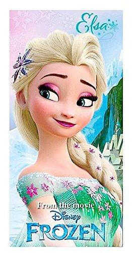 Disney Serviette de bain/plage 100% coton - Motif Elsa de la Reine des Neiges - 70 x 140cm