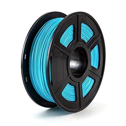 Fucaiqian CCH-YS Materials, 1pc 3D Printer Filament PETG 1.75mm 1kg/2.2lbs Plastic Filament Consumables PETG Material For 3D Printer (Color : Water Blue)