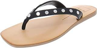 Dolce Vita Womens Clyde Metallic Beach Flat Sandals