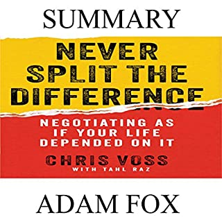 Summary: Never Split the Difference audiobook cover art