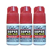 3 bottles Super nail Glue professional Salon Quality,Quick and Strong Nail liquid adhesive