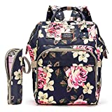 Best Baby Diaper Backpacks - Diaper Bag Backpack Floral Baby Bag Water-resistant Ba Review