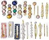 20 Pcs Macaron Hair Clips for Women Acrylic Pearl Hair Clip Handmade Pearl Hair Pins Gifts...