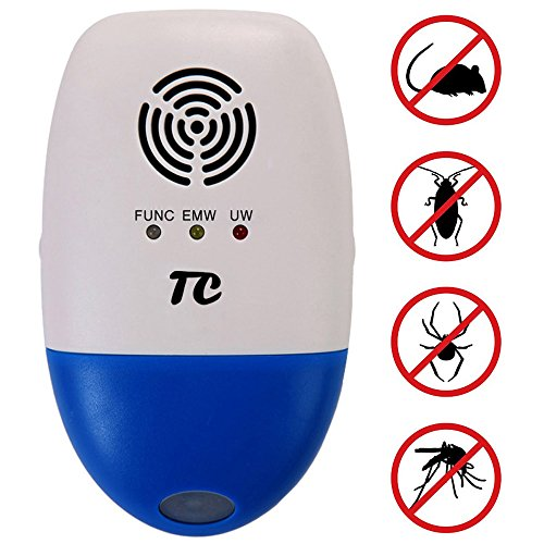 Ultrasonic Pest Control Against Mouse,TC Joy Electronic Pest Repellent Plug in Multi-functional Intelligent,Indoor and Outdoor Use