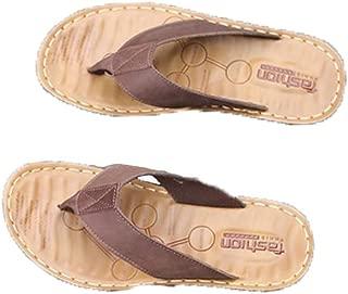 YRSINK Beach Slippers Leather Sandals Men's Casual Men's Sandals