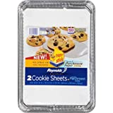 Reynolds Bakeware Disposable Cookie Sheet Pans with Parchment Lining - 15x10.25 Inch, 2 Count