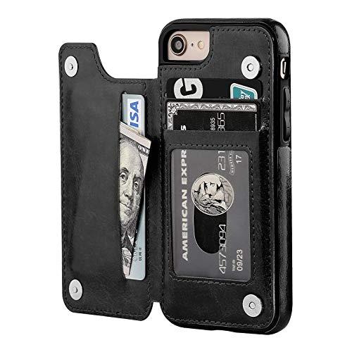 cover a portafoglio Suhctup Compatibile per iPhone SE 2020