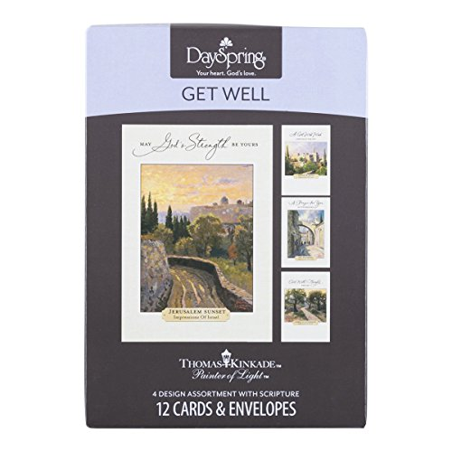 DaySpring Thomas Kinkade - Get Well - Inspirational Boxed Cards - God's Strength - 74869,Multi Color Photo #7