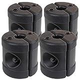 Montafox Pavillon Standfüße Gewichte Befüllbar 4 x Standfuß Standsicherung Halterung Partyzelt Bierzelt Trampolin - schwarz