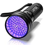 LOFTEK UV Flashlight Black Light, 51 LED 395 nM Ultraviolet Flashlight Perfect Detector for Pet (Dog and Cat ) Urine, Dry Stains and Bed Bug, Handheld Blacklight for Scorpion Hunting