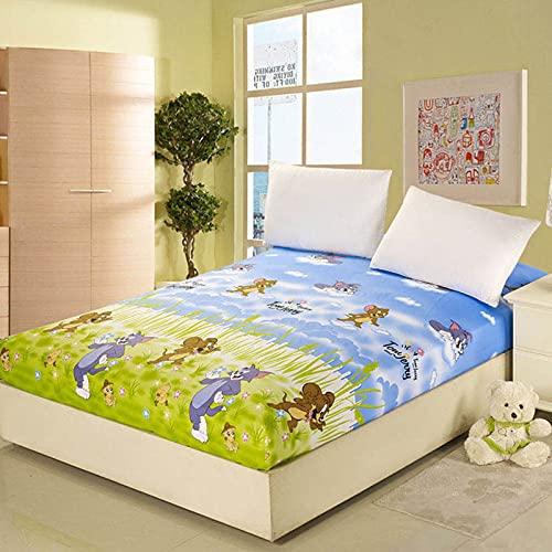 NHhuai Protector de colchón, algodón, poliéster, Sábana de algodón de un Solo Producto Multicolor Opcional