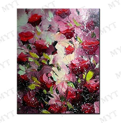 Geiqianjiumai Große Blume lila abstrakte Moderne ölgemälde Wohnzimmer wandkunst malerei Dekoration malerei rahmenlose malerei 50X70 cm