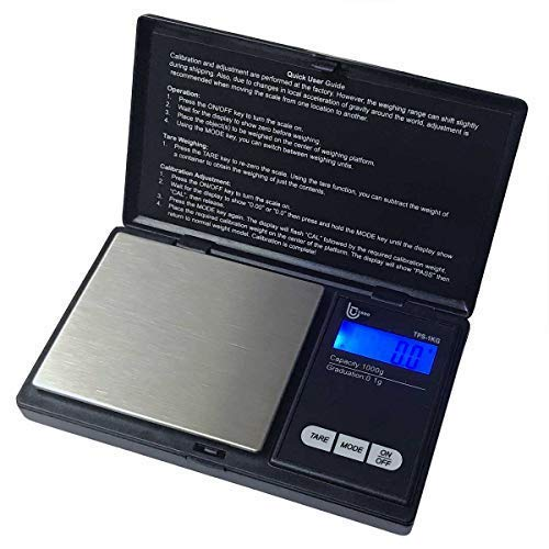 Tesso Digital Mini Pocket Scale High Accuracy Jewelry/Food/Medicine Scale, Electronic Gram Scale with Slim Design (1KG x 0.1g)