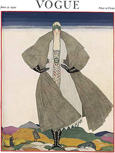 Theissen Vogue Vintage Pop Art Poster Print June 1920 - Matte Poster Frameless Gift 11 x 17 inch(28cm x 43cm)*IT-00308