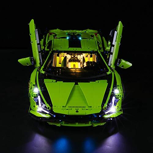 Nlne Jeu De Lumières pour (Lamborghini Sián FKP 37) Modèle en Blocs De Construction - Kit De Lumière A LED Compatible avec Lego 42115(Ne Figurant Pas sur Le Modèle)