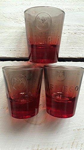 6x Bacardi Fuego Shot Glas 4cl ~mn 280 1124