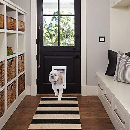Ideal Pet Products Porta Deluxe de alumínio para animais de estimação, média, branca
