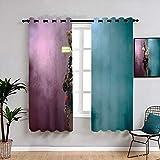 Cortinas de reducción de ruido de aves de presa cortinas con ojales, cortina impermeable para la habitación de los niños, habitación del bebé 84 x 84