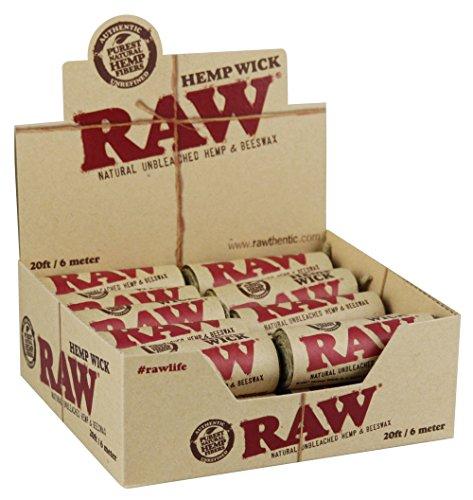 RAW Hemp Wick 6m Langer Docht aus Hanf und Bienenwachs 1 Box (20x) Hemp Wicks