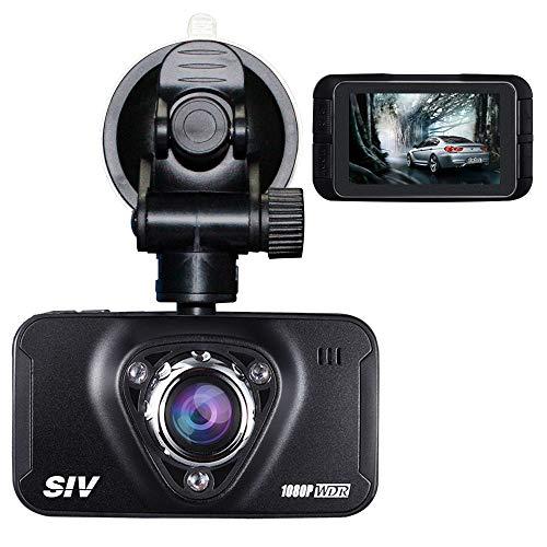 Dashcam,HQBKING Full HD 1080P Fahrzeug Auto Kamera Dashboard Video Recorder mit 170 Grad Weitwinkel 4X Zoom G-Sensor Bewegungserkennung Nachtisch Daueraufnahme