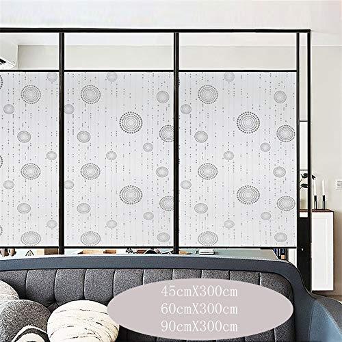 YSHUO Brede 45/60/90Cm Frosted Glass Zelfklevende Glas Venster Film Privacy Raam Stickers Vinyl Spiegel Film Grijs Woonkamer