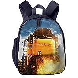 Kinderrucksack Mähdrescher Nutzpflanze, Schulrucksack für Mädchen und Jungen Schultasche Schulranzen Teenager Backpack Daypack Freizeitrucksack Kinder Rucksack