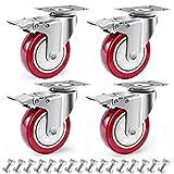 D&L 4 Inch Plate Swivel Casters Wheels 1800lbs...