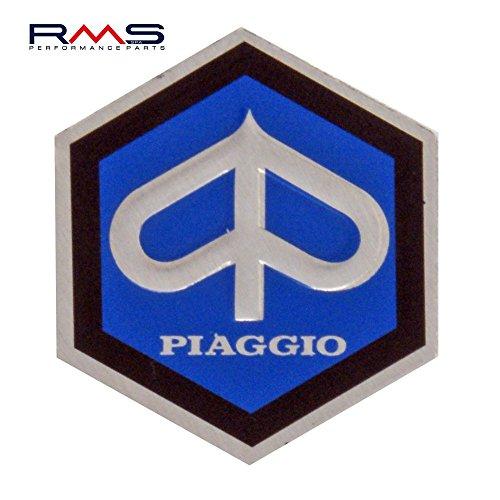 Piaggio Hexagon Cascade Emblem for Vespa 50/ET3etc–Aluminium, 25x 30mm Self-Adhesive