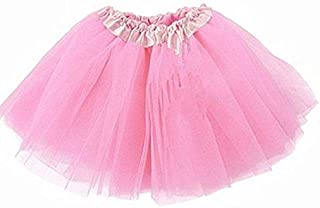 1f6065a10c0dc3 Lady Girls Women Tutu Skirt Skirts Fancy Dress Party Hen Party (Pink)