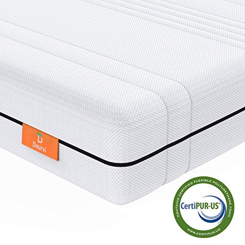 Dourxi Baby Crib Mattress and Toddler Bed Dual Sided | With 100% Washable and Breathable 3-D Spacer Cover, High Density Firm Foam Side for Infants and Cooling Gel-Infused Memory Foam Side for Toddlers
