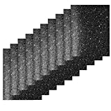 Jodimitty Juego de 10 láminas de vinilo para plóter textil, para manualidades (negro)